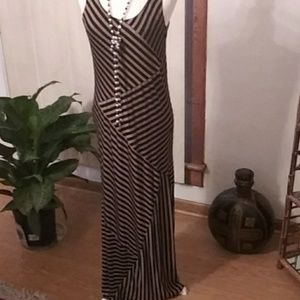 AGB Striped Maxi Dress